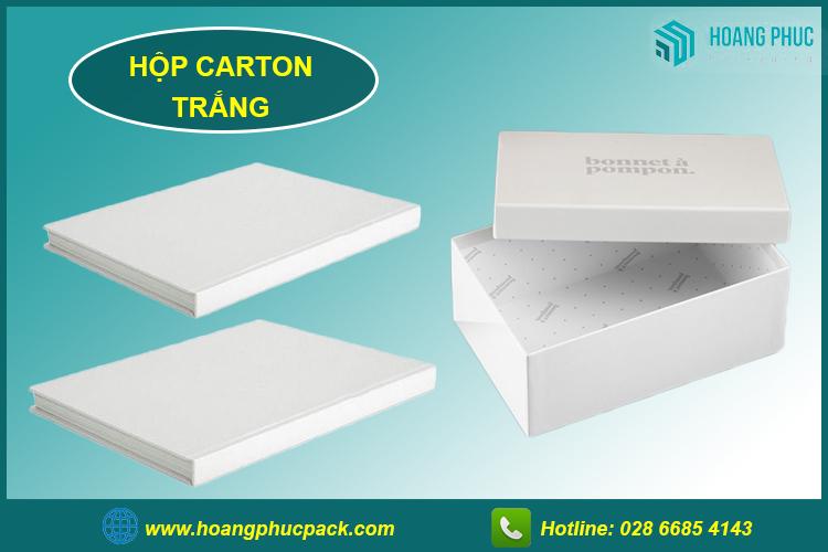 Hộp carton trắng