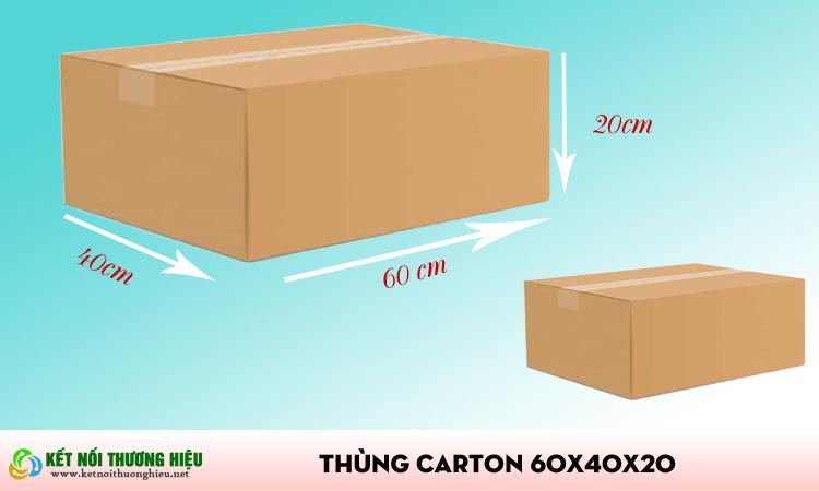 Thùng carton 60x40x20